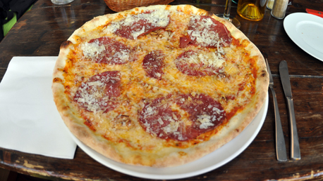 pizza bresaola