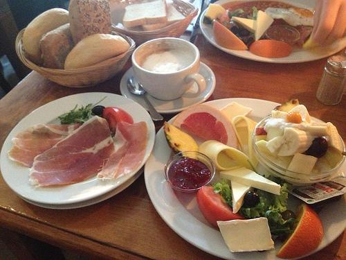 Süßes Frühstück (4,90 €) mit Extra-Parmaschinken (1,90 €)