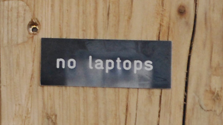 no laptop