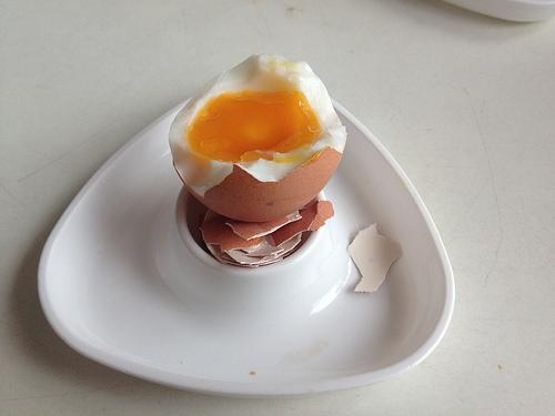 Frühstücksei perfekter Konsistenz