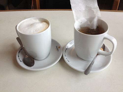 Milchkaffee (2,80 €) und Darjeeling (2,20 €)